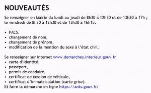 Nouveautés_formalités administratives