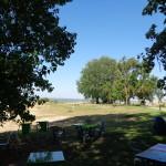 La vue panoramique depuis la guinguette de la plage aux abords du camping Les Remparts