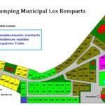 Plan Camping municipal Les Remparts