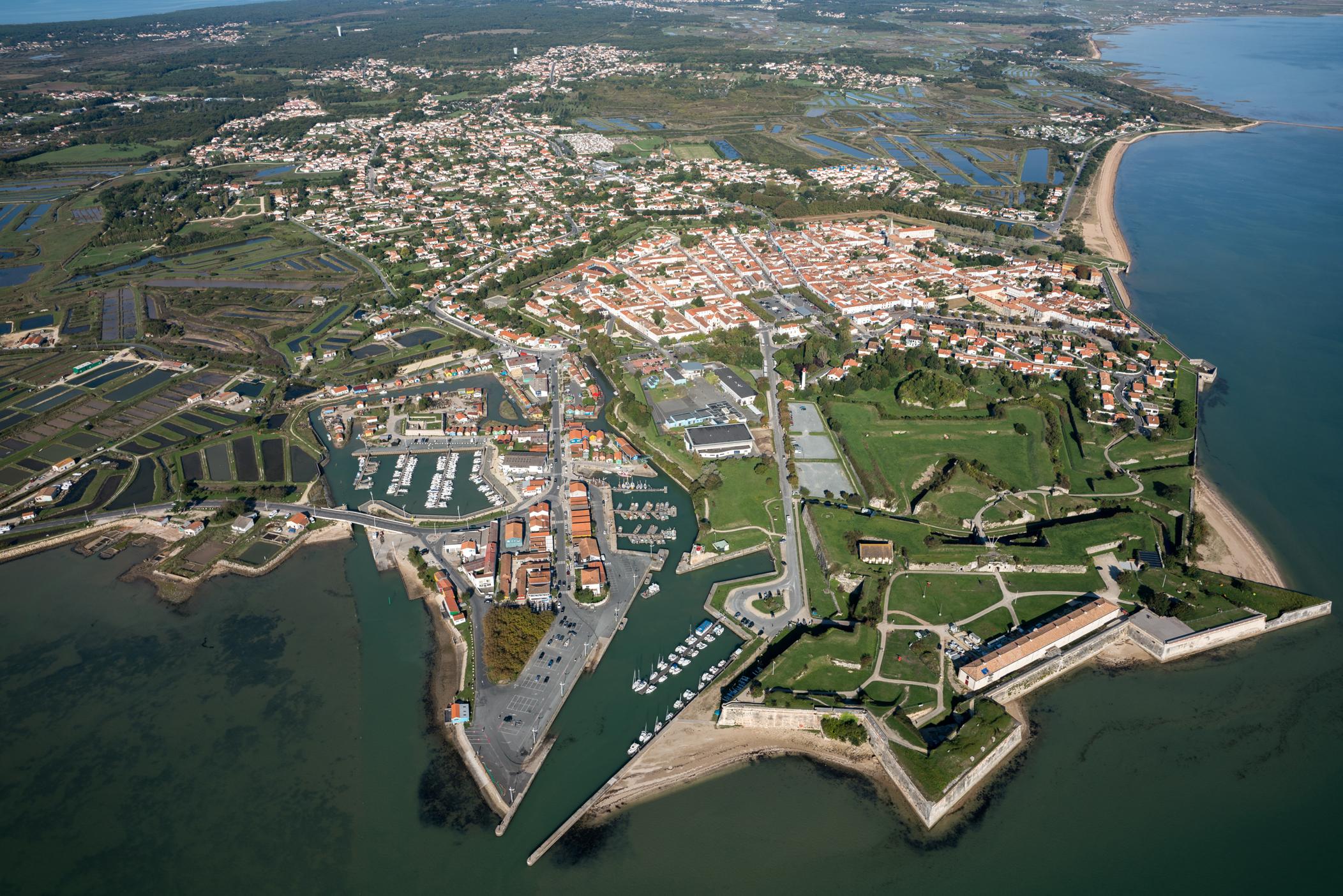 Vue aérienne du Château d'Oléron
