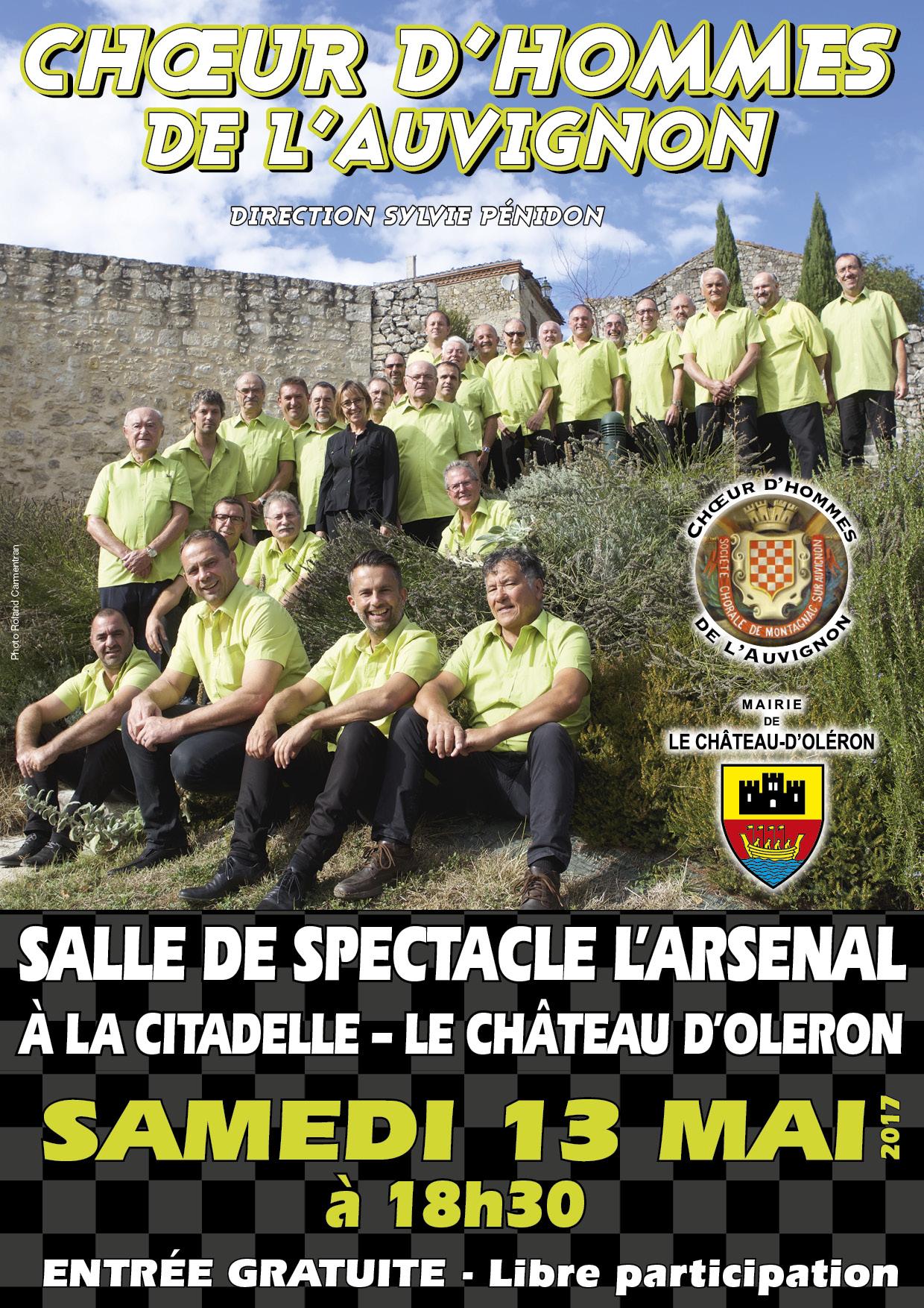 Concert Choeur d'Hommes de l'Auvignon - 13 mai à 20h30