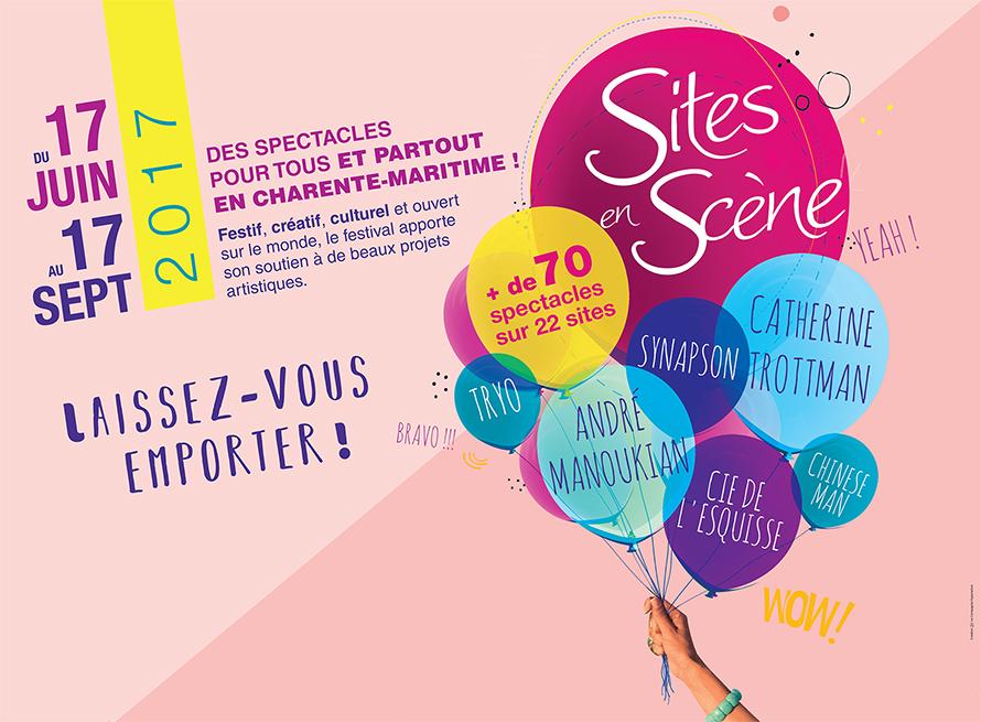 Affiche Sites en Scène 2017