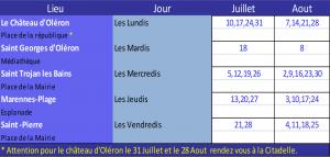 Dates de LudOléron - été 2017