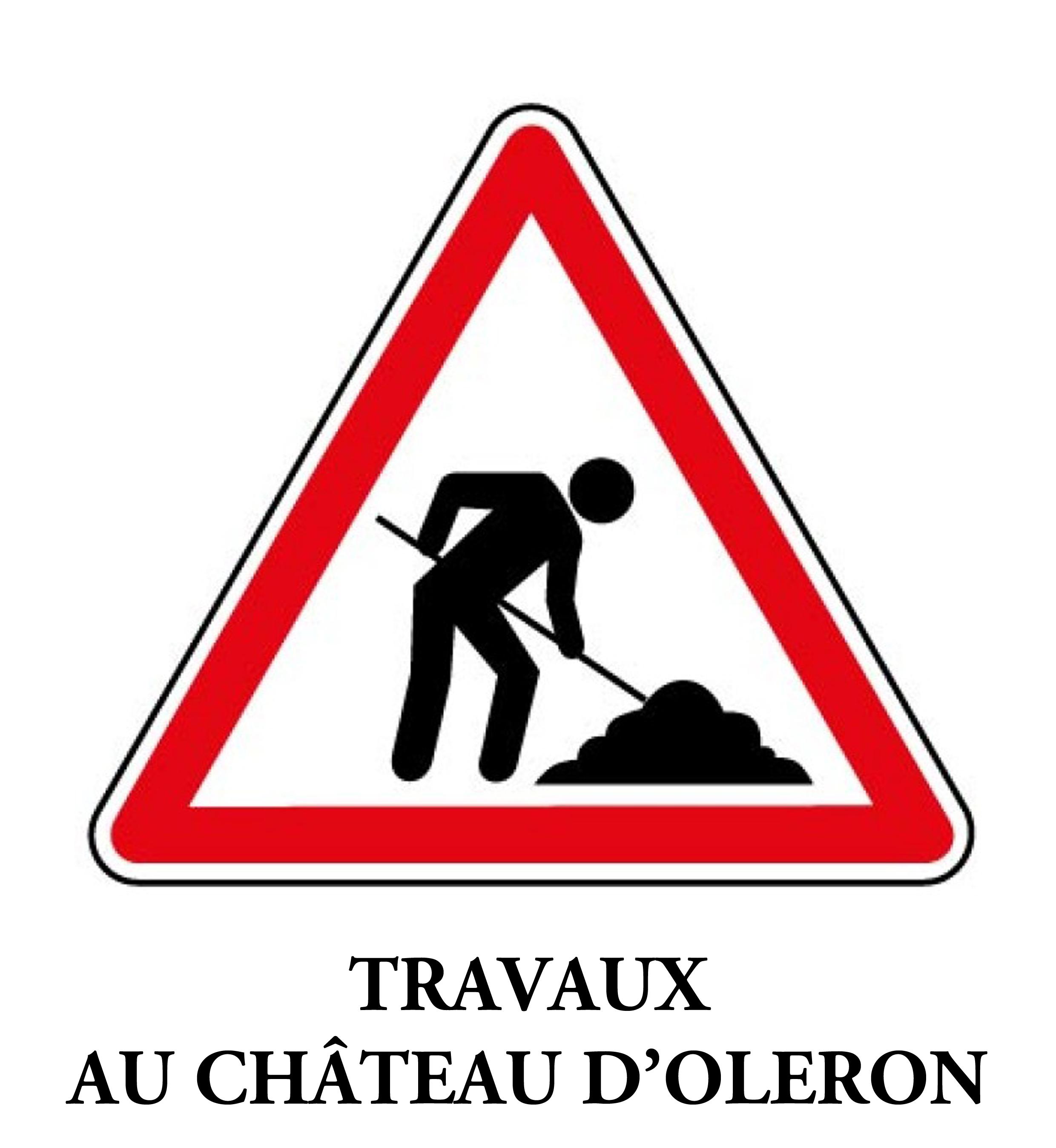 Travaux au Château d'Oléron