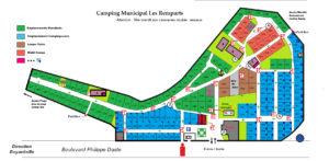 Plan numéroté du Camping municipal Les Remparts