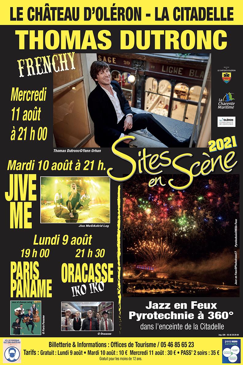 Affiche Sites en Scène Jazz en Feux 2021