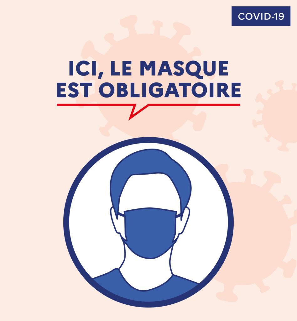 Port du masque obligatoire sur les espaces publics hautement fréquentés