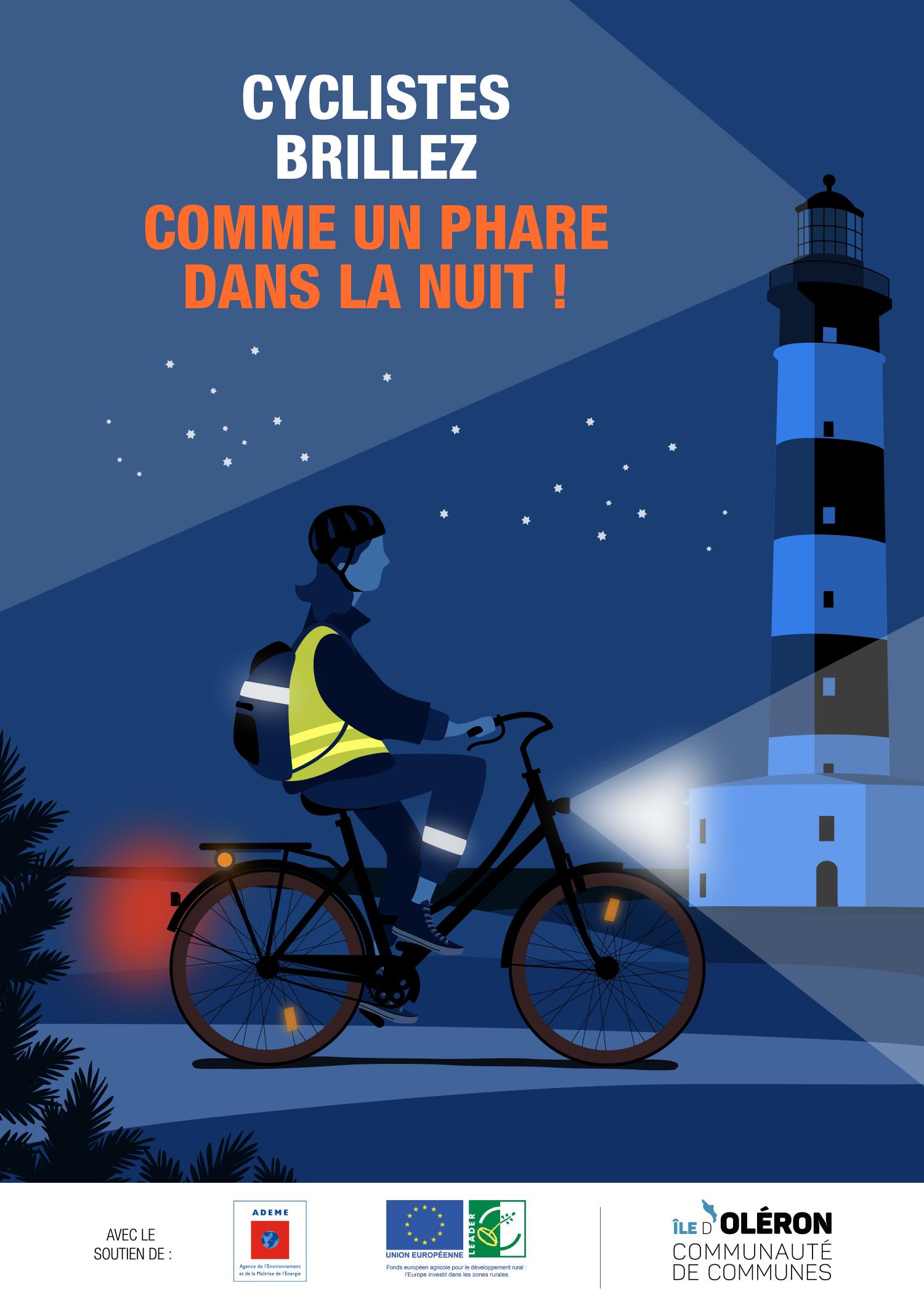 Sécurité routière, être éclairé et visible la nuit notamment en vélo