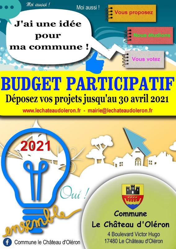 BUDGET PARTICIPATIF 2021 LE CHÂTEAU D'OLERON