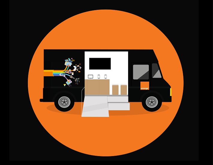 Camion Orange vient expliquer la fibre